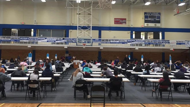 Grades 8-11 took the PSAT on Wednesday, a first for the Carlsbad school district.