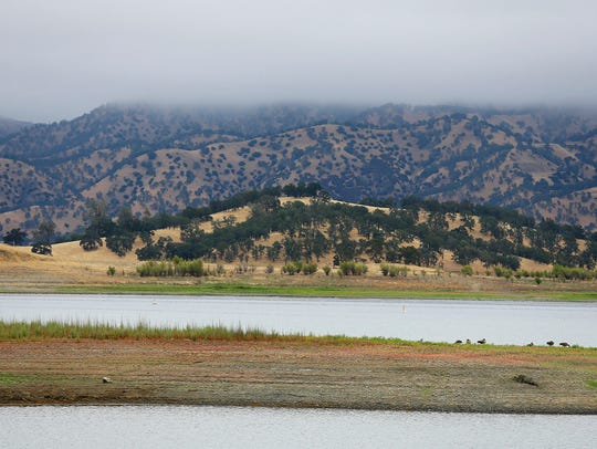 California's Lake Berryessa lies next to a portion
