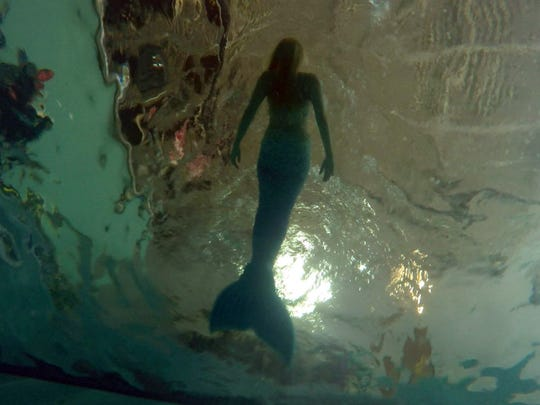 Ashton Larson spends most of her mornings practicing free diving in her mermaid tail at Adventure Scuba and Snorkeling Center of Plano, Texas.