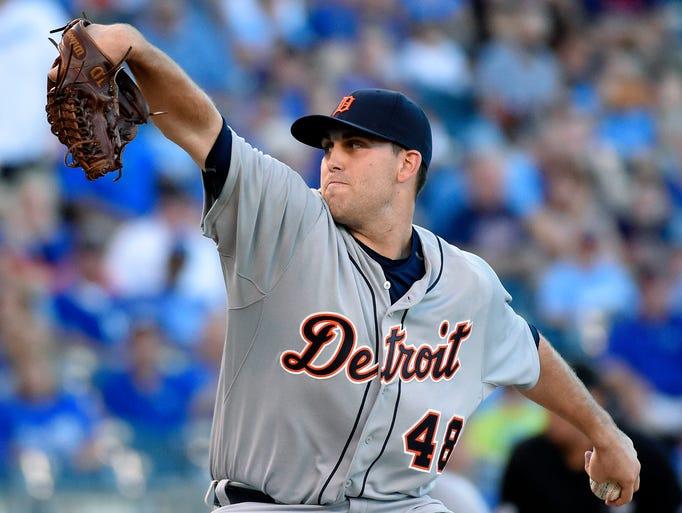 Detroit Tigers starting pitcher Matt Boyd (48) throws