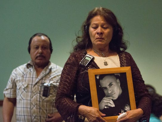 Maria Ramirez, the mother of Hatch Police Officer Jose