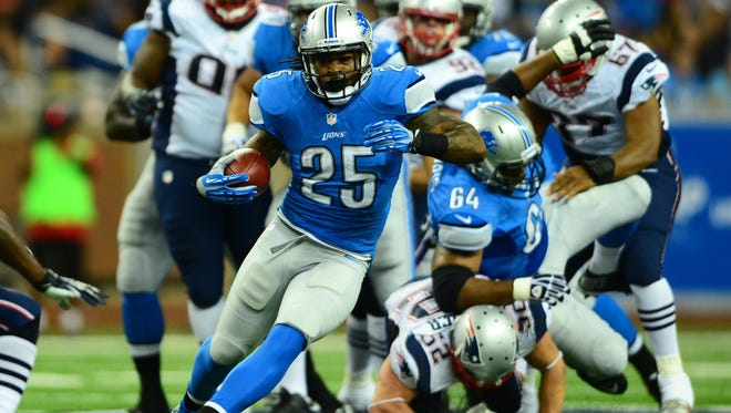 Lions RB Mikel Leshoure (25) has only been active once this season.