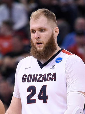 Gonzaga Bulldogs center Przemek Karnowski's beard game is strong.