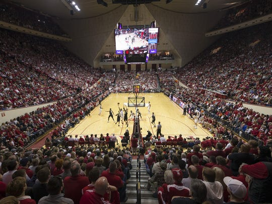 A general view of renovated Simon Skjodt Assembly Hall.
