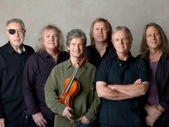Kansas will perform at the Pickerington Violet Festival Saturday. Current members are, from left, Richard Williams, Billy Greer, David Ragsdale, Ronnie Platt, Phil Ehart and David Manion.