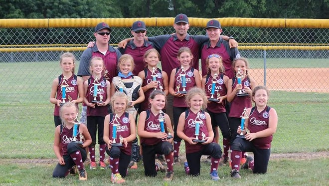 The Owen 8 and under softball team won the Babe Ruth District 2 tournament Saturday in Etowah.