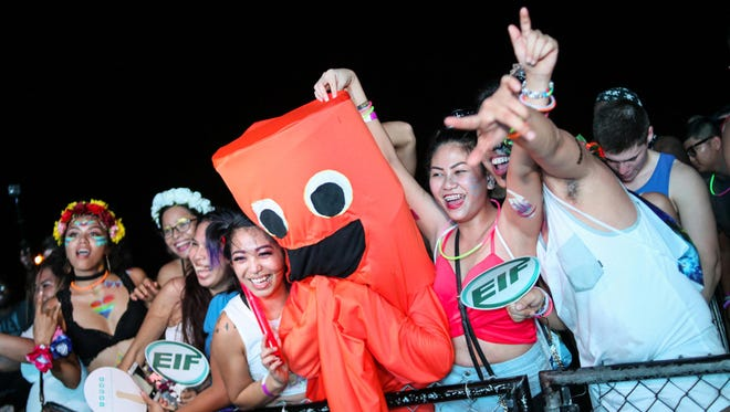 In this file photo, fans are shown at the Electric Island Festival at the Guam International Raceway. The festival will be held in Saipan this year.