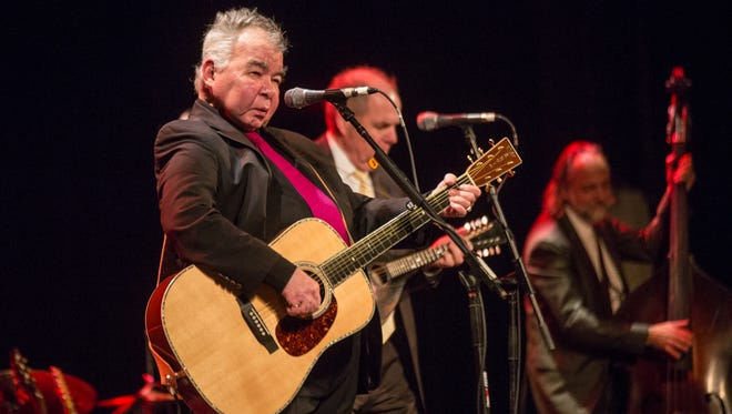 Celebrated singer-songwriter John Prine at a largely-full Riverside Theater Saturday.