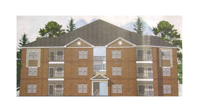 Rendering of the West Way Apartments.