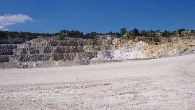 Vulcan Materials Quarry in Oxford Township, Adams County showing limestone and dolomite.