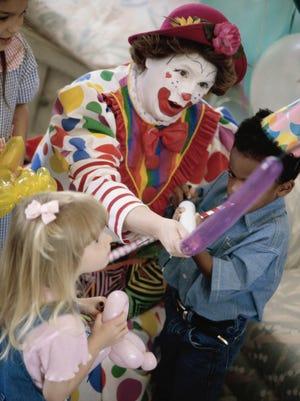 A friendly clown