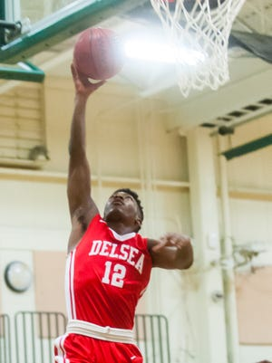 Delsea's Javon Gordon goes up for a shot in a game from last season. The guard is off to a fast start in the scoring department for the 303 Crusaders.