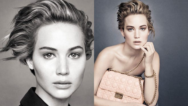 Jennifer Lawrence appears in her third ad campaign for Dior.