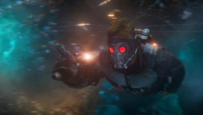 """Chris Pratt appears in a scene from """"Guardians Of The Galaxy Vol. 2."""""""