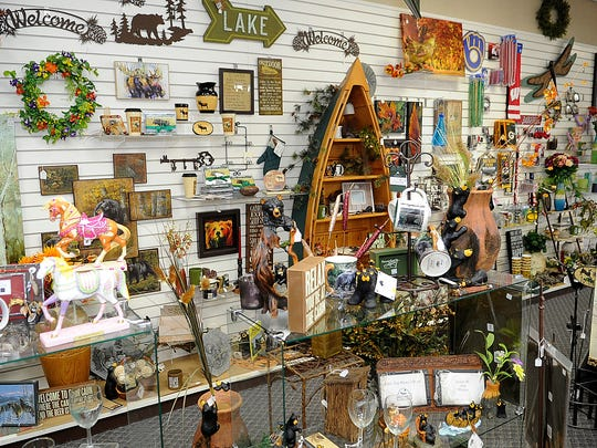 A display area with items for sale inside Daly Drug in Wisconsin Rapids.