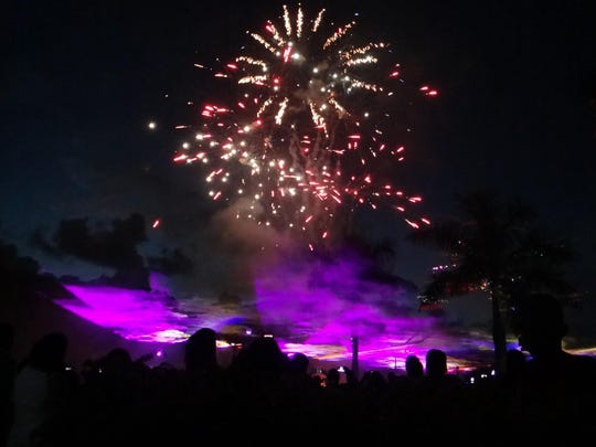 Fireworks like these from Bonita Springs can be seen