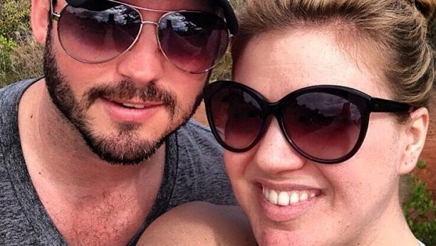 Kelly Clarkson with husband Brandon Blackstock.