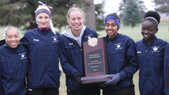 The Iowa Central Community College women, after winning the NJCAA national championship on Saturday in Fort Dodge.