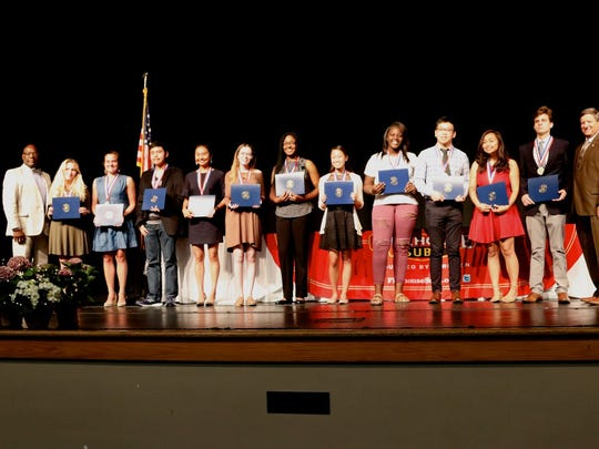 2018 Senior Academic Award winners from Booker T. Washington High School.
