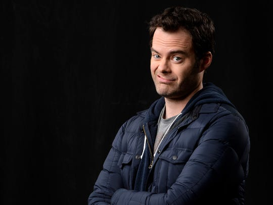 "Former ""Saturday Night Live"" star Bill Hader takes"