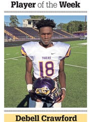 Logansport running back Debell Crawford is The Times' Week 8 Player of the Week.