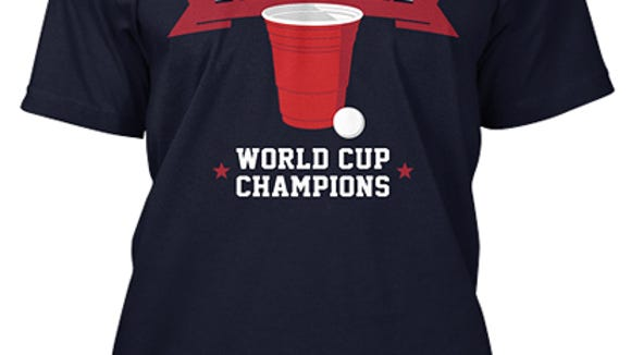 Get an original Delaware World Cup Champions T-shirt for $18.