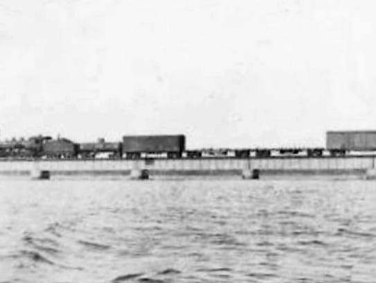 The FEC railroad headed into Stuart across the St.