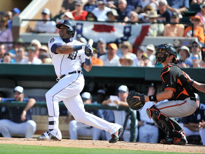 Tigers' Yoenis Cespedes hits a grand slam in the fourth