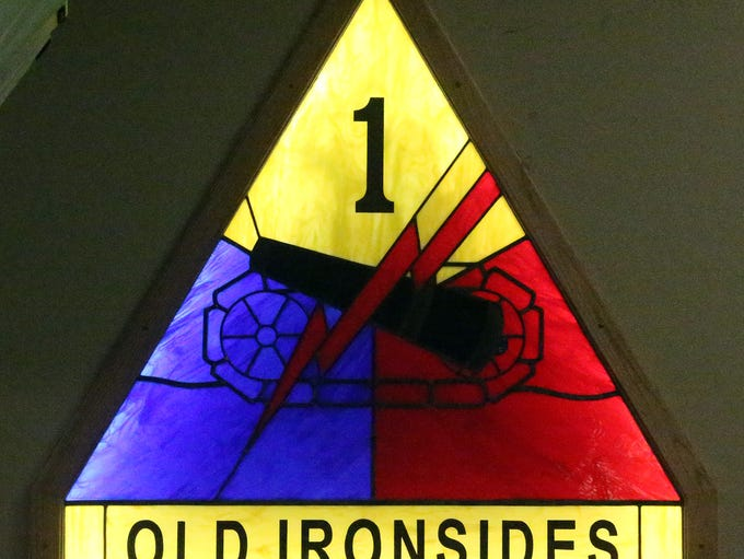 A new stained glass addition to the 1st Armored Division