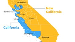 A map of New California, as envisioned by the proposed