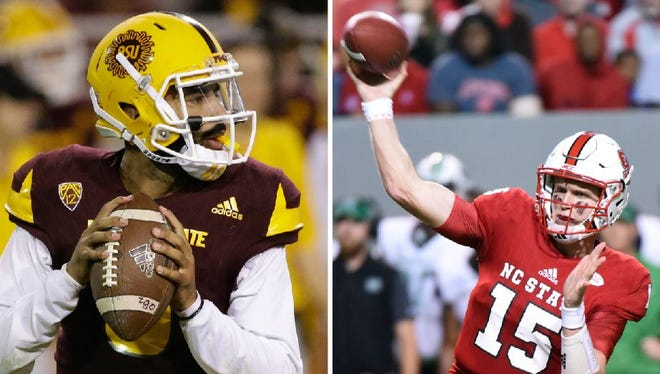 ASU's Manny Wilkins and North Carolina State's Ryan Finley have yet to throw an interception in 2017.