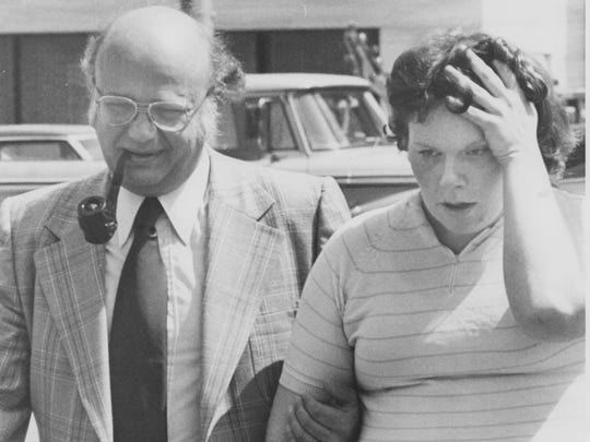 """Sarah Isabel """"Cindy"""" White with attorney Clifford Antcliff"""