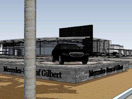 Gilbert 39 s 1st mercedes benz dealership to open in 2016 for Mercedes benz dealers in michigan