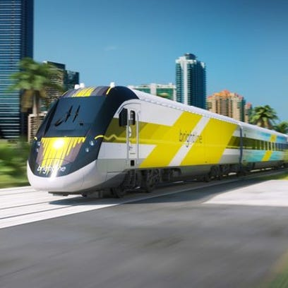This rendering depicts All Aboard Florida's Brightline train. If All Aboard Florida manages to raise the capital for its passenger railroad privately, Martin and Indian River counties' federal court case would be significantly weakened, if not dead.