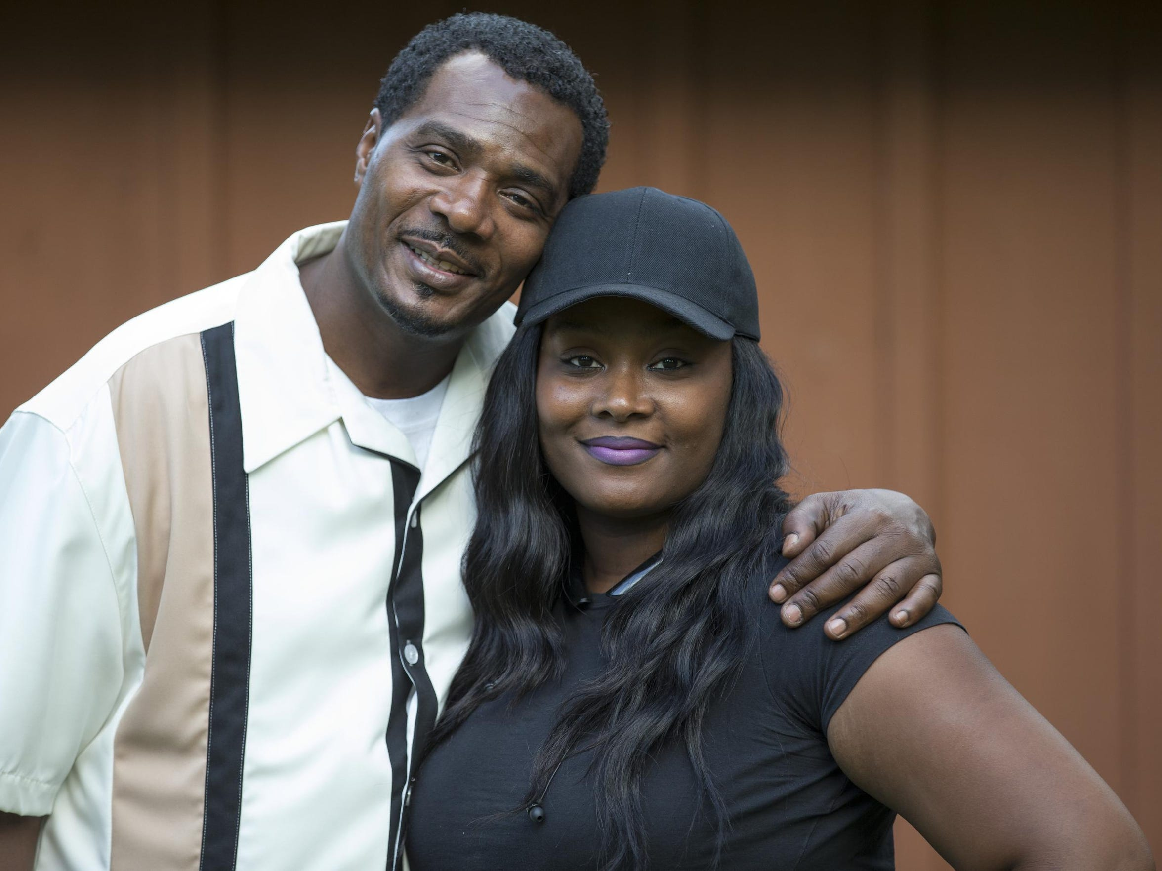 Keith Cooper, with his daughter, Lakeisha Cooper, at
