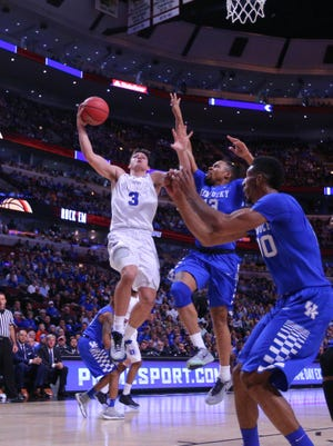 MSU will face Grayson Allen (3) and Duke and the Kentucky Wildcats in the first month of this basketball season.