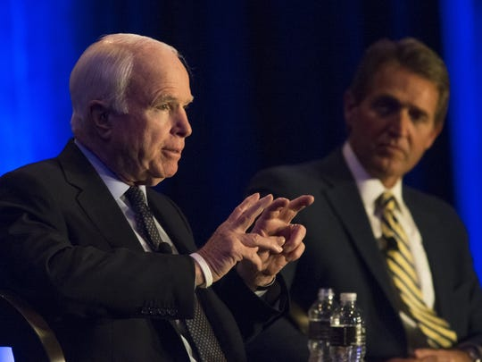 U.S. Sen. John McCain, R-Ariz., speaks at a 2015 Arizona