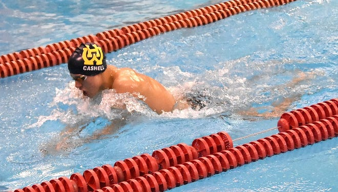 Dan Cashell of Walnut Hills took home 2nd place in the Boys 200 Yard IM  at the Eastern Cincinnati Conference Swimming and Diving Championships, Jan. 27, 2018.