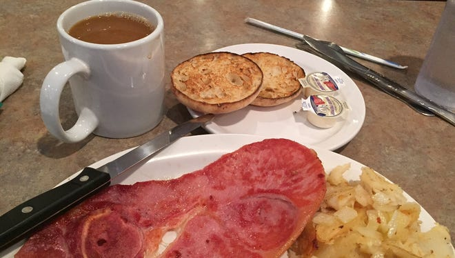 Country ham as part of breakfast at The Colonial Cottage in Erlanger.
