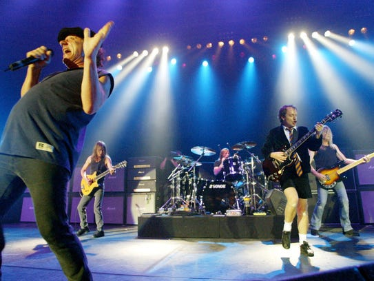 This photo from 2003 shows British rock band AC/DC.