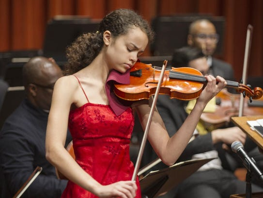 Violinist Maria Sanderson took home the $10,000 top