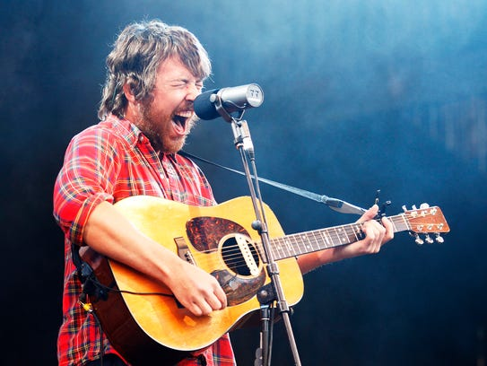 Robin Pecknold of Fleet Foxes performs at the Falls