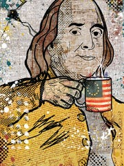 Jesse Kunerth's artistic piece of Ben Franklin.