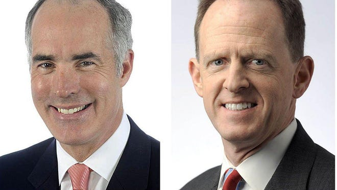 From left, these are file photos U.S. Sen. Bob Casey, D-Pa. and U.S. Sen. Pat Toomey, R-Pa. CONTRIBUTED/