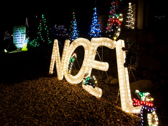 Christmas Lane in Cedar City.