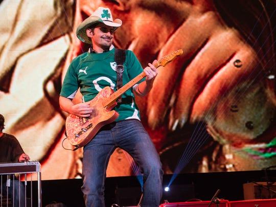Brad Paisley plays in Dublin, Ireland.