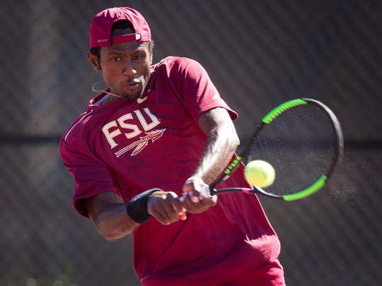 Junior Guy Iradukunda put forth another strong effort for the Florida State men's tennis team this weekend at the Scott Speicher Tennis Center.