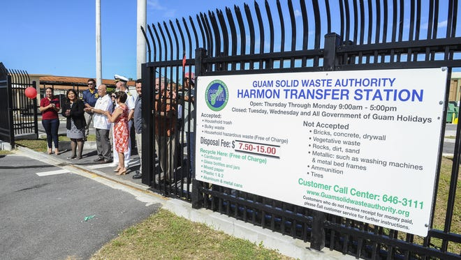 The opening of the Harmon Residential Transfer Station and the Household Hazardous Waste Facility. The Dededo Solid Waste Transfer Station will close June 30 and all trash must be taken to the Harmon facility.