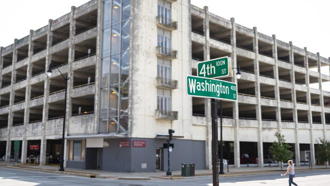 A major redevelopment that would include demolishing an old parking ramp and replacing it with a 95-room hotel is a possibility at Fourth and Washington streets in downtown Springfield.