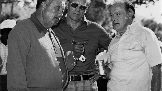 Jackie Gleason, President Gerald Ford and Bob Hope.